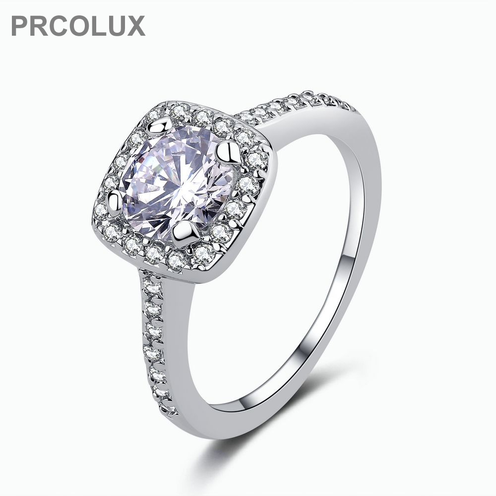 prcolux female girls round ring 925 sterling silver white promise wedding engagement rings for women best gifts qfa04