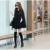 2016 mujeres de la moda otoño invierno suelta trinchera capa ocasional elegante feminino negro sin mangas capa breasted de foso caliente