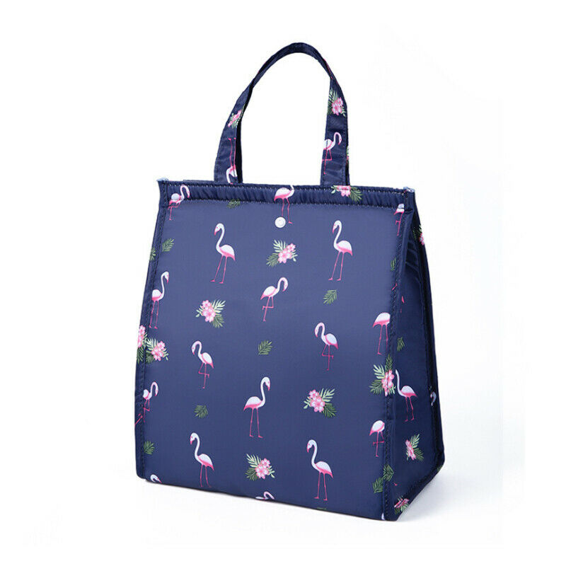 Portable Collapsible Lunch Bag Multi-function Insulation Cooling Food Package Fashion Cartoon Print Tote Bag