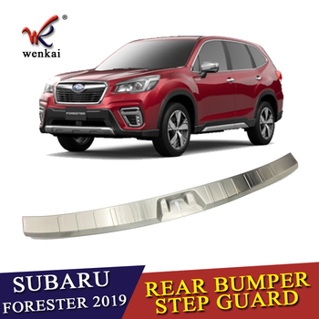 Stainless Steel Rear Trunk Pad Fender Car Accessories For Subaru Forester SK 2018 2019 Rear Bumper Foot Plate