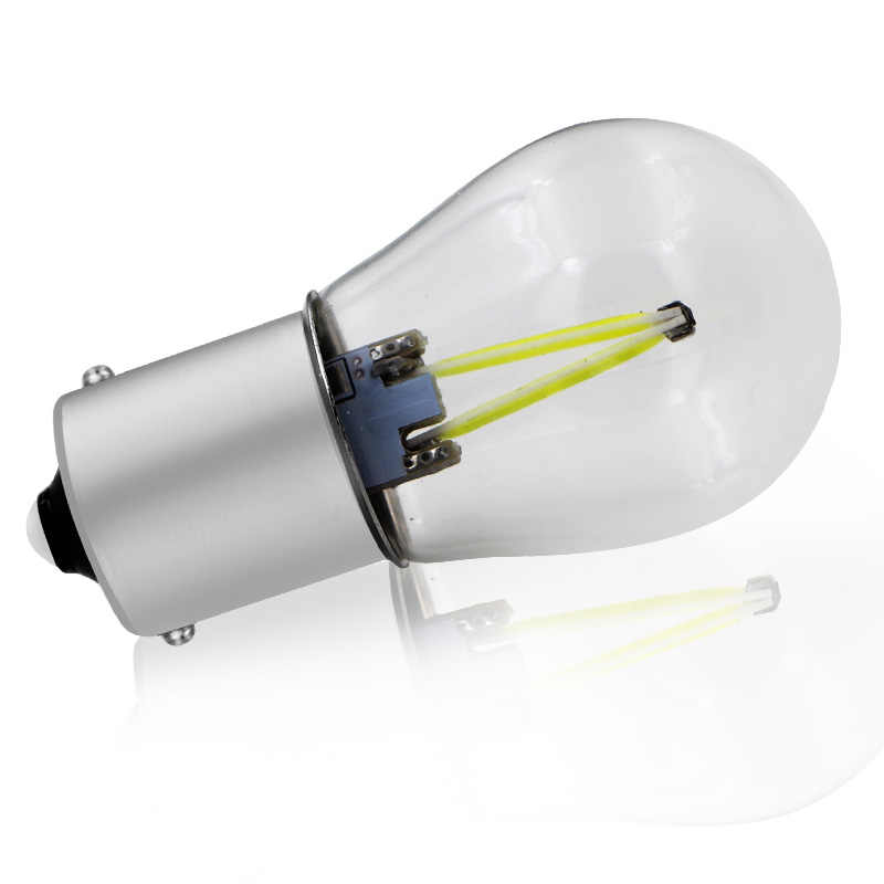 1х светодио дный светодиодный P21W 1156 ba15светодио дный Автомобильный свет S25 Филамент чип авто автомобиль Реверсивный токарный сигнал лампа DRL 12 В в В 24 в автомобиль-Стайлинг