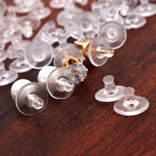 60pcs/bag Good Earrings Jewelry Accessories Big Earrings Back Stopper Round Ear Plugging Blocked Back Stoppers Jewelry Findings new round ball shape ear back ear plugging blocked ear stud earring stopper transparent plastic silicone earrings diy jewelry