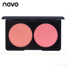 Two-Color Professional Bronzer & Highlighter Trimming Make Up Face Contour Grooming Pressed Powder NOVO Face Makeup Cosmetic Set
