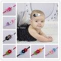 2016 Baby newborn infant headbands thin elastic rhinestone Headband fabric flowers for headbands children hair accessories