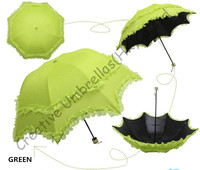 Double layers,UPF>50+ Arched Korea summer Parasols,black coating  2 times,silk  embroidery,bag parasol,UV protecting,assorted