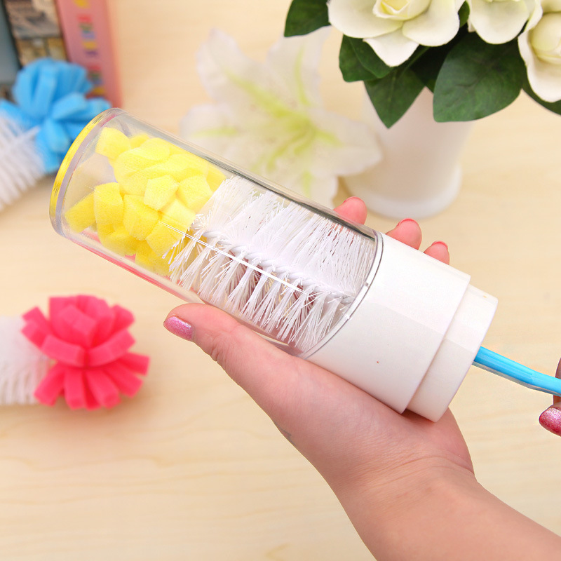 1pcs Baby Bottle Brushes cleaning cup brush for nipple spout tube kids Feeding Cleaning Brush triangle cleaning brush