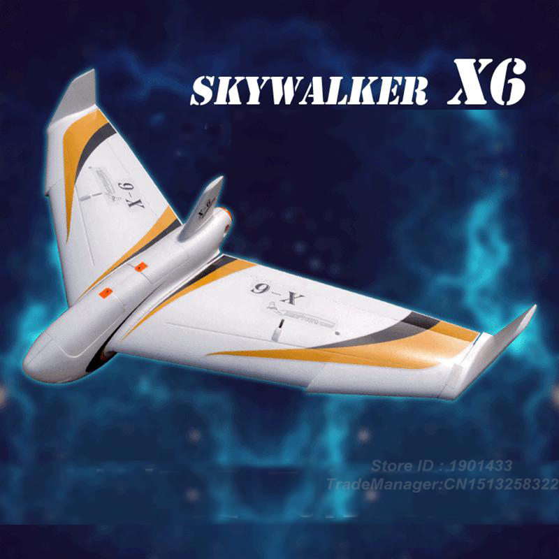 new version skywalker x6 white flying wing 12 x 6 fpv epo large wings airplane. Black Bedroom Furniture Sets. Home Design Ideas