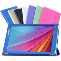 Luxury Ultra Thin Slim Silk Pattern Folio Stand Cover Magnetic Leather Case For Huawei Mediapad M2