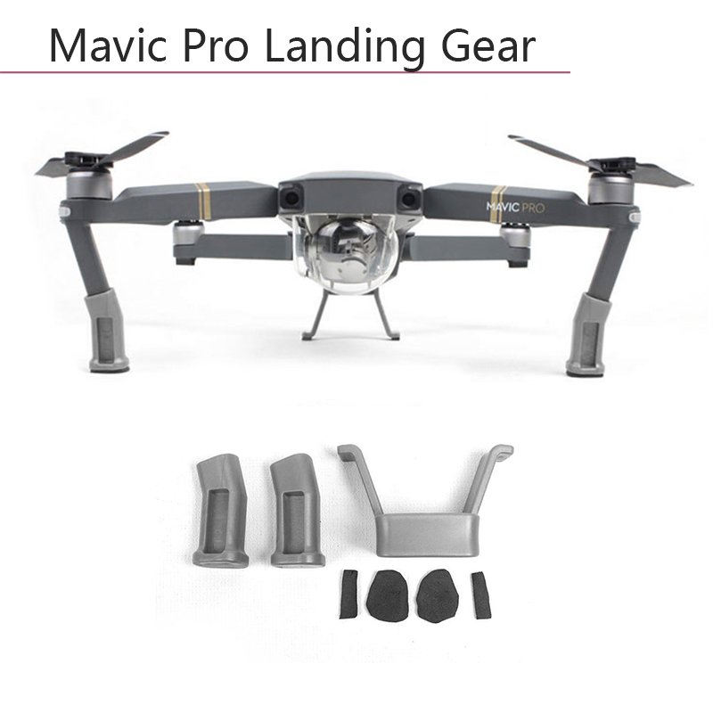 Landing Gear Height Extender Kit Riser Stabilizers With Protection Pad Safe Holder Mount Leg Feet For DJI Mavic Pro Platinum