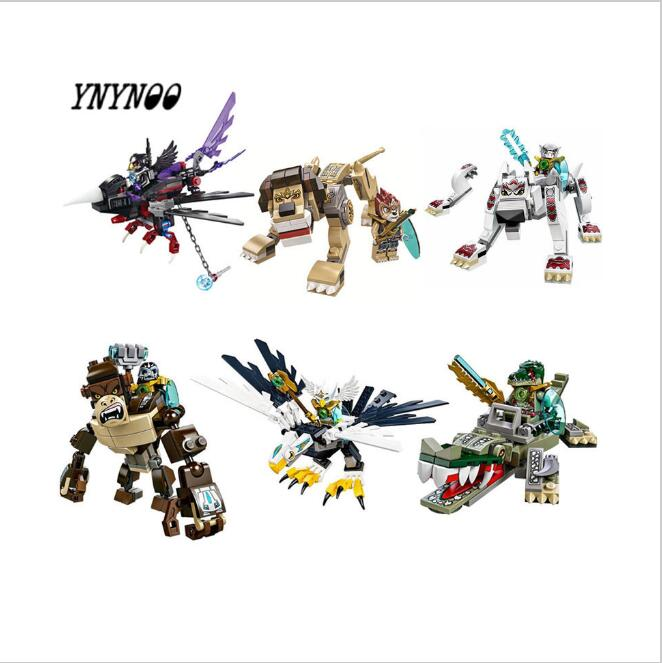 CHIMA Super Hero Figures Building Blocks weapon Qigong Animal Model Bricks Compatible legoingly Toys For Children hot sale qigong legend animal figures wolf lion eagle crocodile lepine building bricks blocks sets toy for children gift