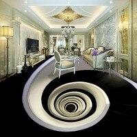 Free Shipping Rotary Vortex Living Room Bedroom Floor Wallpaper 3D Stereo Self Adhesive Custom Hotel Bathroom