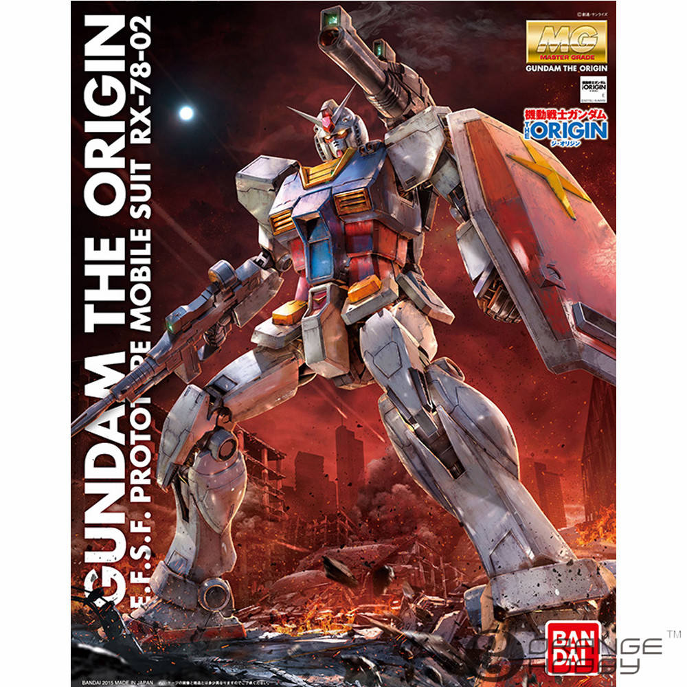 OHS Bandai MG 190 1/100 RX-78-02 Gundam The Origin Mobile Suit Assembly Model Kits 1 100 age 2 normal mg up to the basic type of assembly model for assembly model