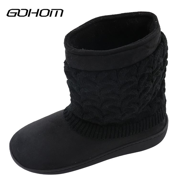 GOHOM 2017 2 Color New men winter Short shoes Style men home slippers flip flops men Faux Suede Plush Warm Slippers fghgf shoes men s slippers mak