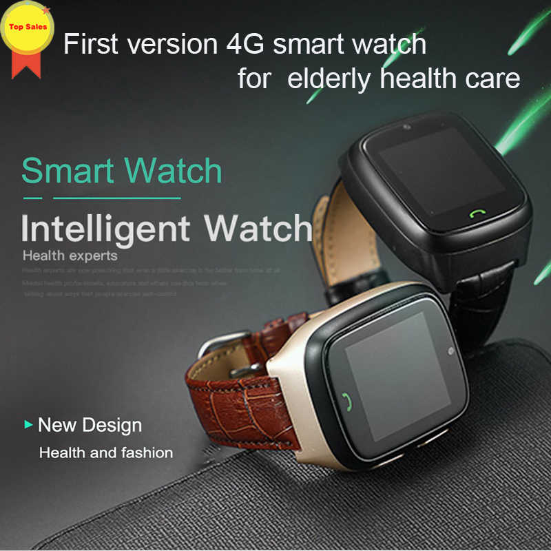 Smart Kids old Watch SOS emergency Call GPS Location Finder Tracker for Elder Remote heart rate Monitor fall alarm 4G lte watch