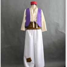 На заказ Аладдин лампа Костюм Принца Алладина костюм для взрослых мужчин Танцевальная вечеринка Фильм Косплей Костюм