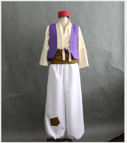 Custom Made Aladdin Lamp Prince Aladdin Costume For Adult Man Dance Party Movie Cosplay Costume