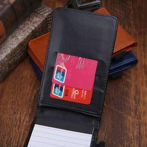 Многофункциональный карманный планировщик A7 блокнот маленький блокнот Кожаная Обложка для книг деловой ежедневник Memos офисные школьные ка...