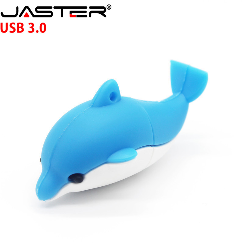 JASTER  The New Dolphin USB Flash Drive USB 3.0 Pen Drive Minions Memory Stick Pendrive 4GB 8GB 16GB 32GB 64GB  Gift