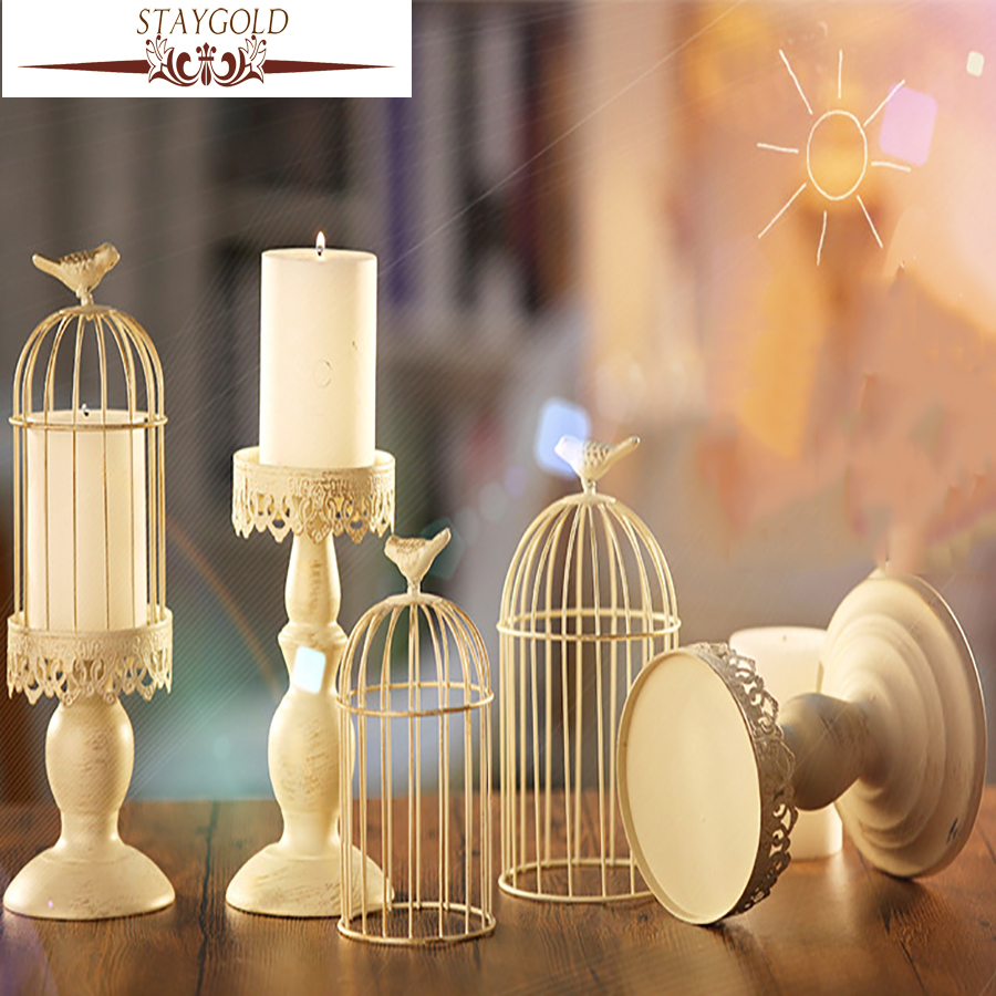 Staygold shabby chic retro candlestick wedding decorations for Aana decoration wedding accessories