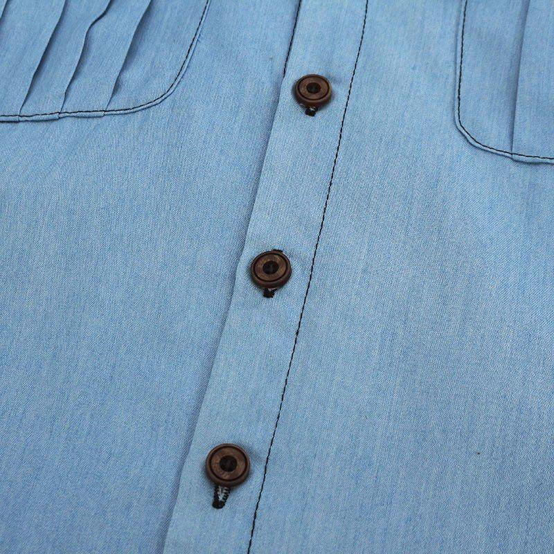 HTB16ClYNXXXXXXsXVXXq6xXFXXXD - Blouses Sexy Sleeveless Jeans Denim Blue Shirts Female Casual