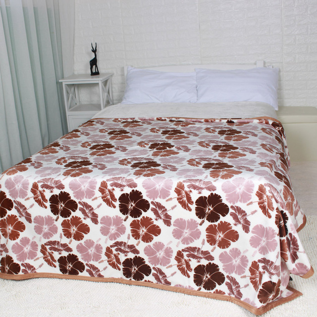 Thick Quality Soft King Queen Size Flannel Winter Blanket Coffee