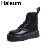 boots female with motorcycle boots short tube women's boots platform boots H C89A