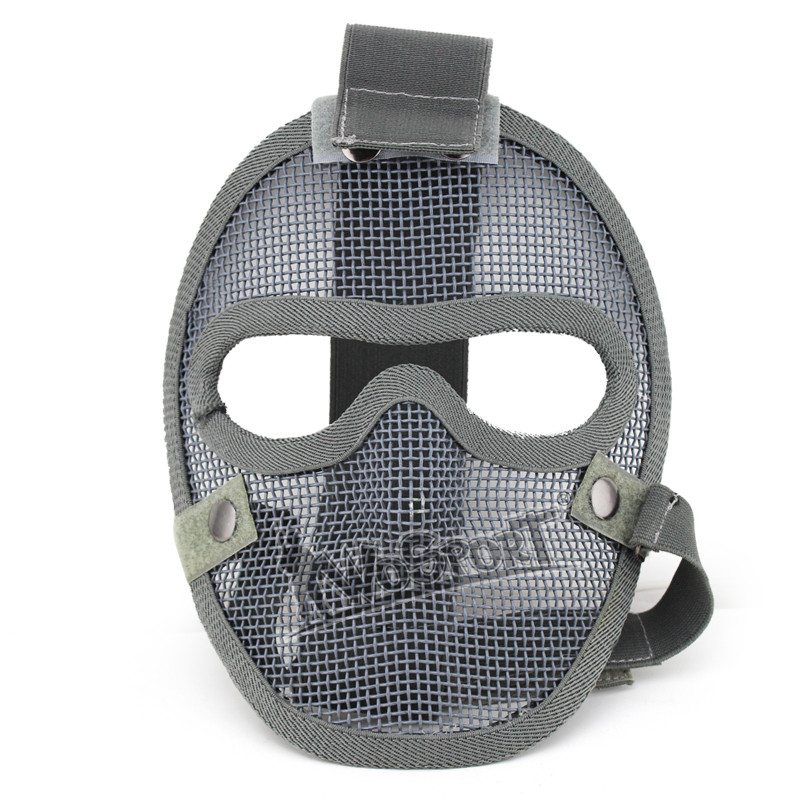 WoSporT Tactical Helmet Mask Full Face Metal Mesh Strike Mask Outdoor War Game Airsoft Military Cosplay Protective Hunting