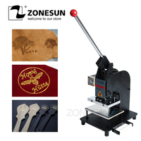 Zonesun Warmte Persmachine Handleiding Foliedruk Machine Lederen Logo Embossing Machine Persmachine