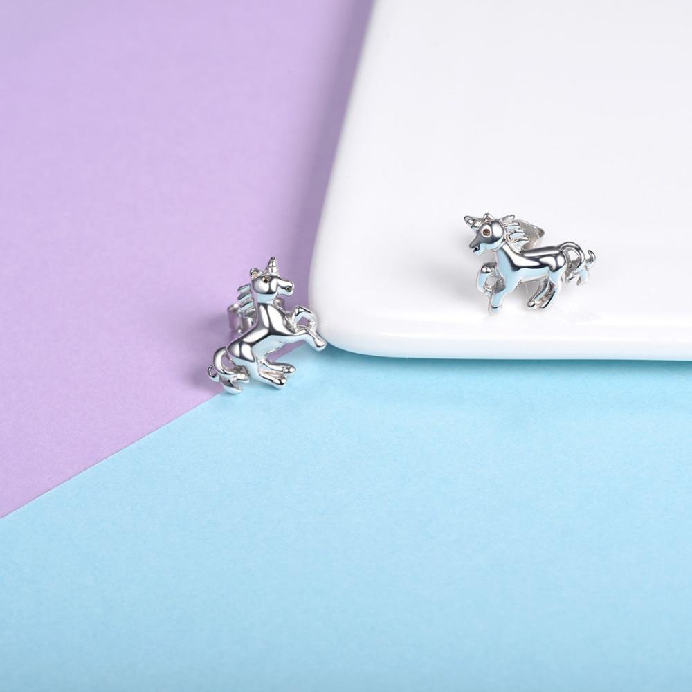 Silvercute Little Horse Stud Ականջօղեր կանանց - Նուրբ զարդեր - Լուսանկար 5