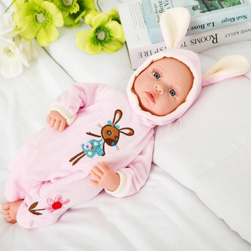 Nieuwe 18 inch levensechte reborn baby zachte vinyl echte touch doll mooie pasgeboren baby