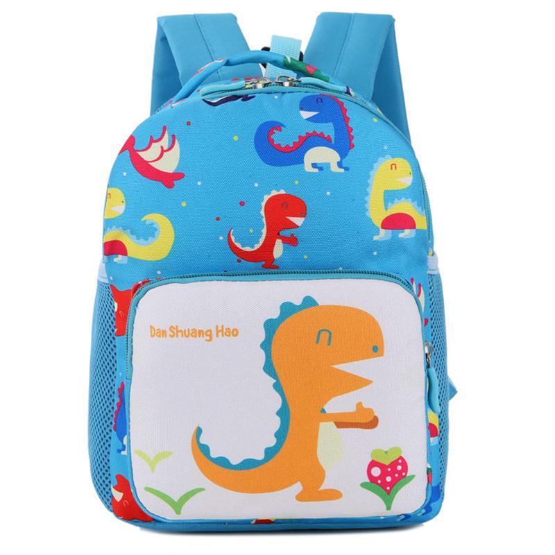 Dinosaur Pattern Schoolbag Primary School Kindergarten Cartoon Backpack Bay Anti-lost Backpack Gift Animal Pattern Cute Shoulder