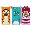 3d de dibujos animados monsters animales sulley tigger marie/alice cat, perro slinky silicio teléfono casos de la cubierta para iphone 4 4s 5 5s se 6 6 s Plus