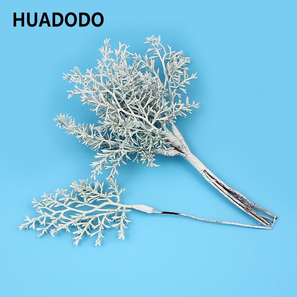HUADODO 6pcs Artificial Plants Fake Grass Artificial Flowers For Home Garland DIY Scrapbooking Wedding Christmas Decoration