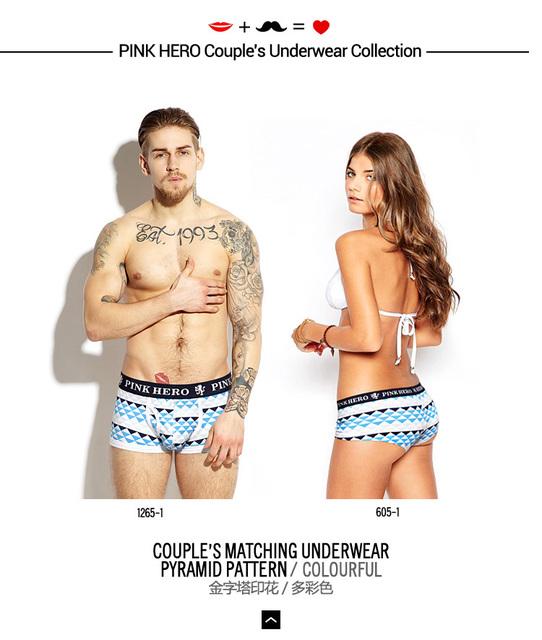 Comfortable Men Boxer Shorts Couples Underwear Cotton Male Panties Design Fashion Print Sexy Elastic women boxers underpants