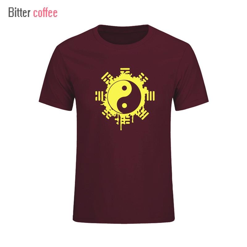 2017 divat nyári t-shirt férfi felső felső kínai Tai Chi tinta - Férfi ruházat - Fénykép 6