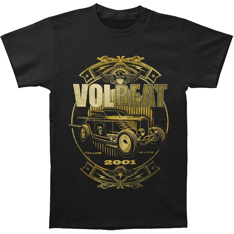 Volbeat Mens Custom Car Shop T-shirt Black O-Neck Sunlight Men T-Shirt top tee