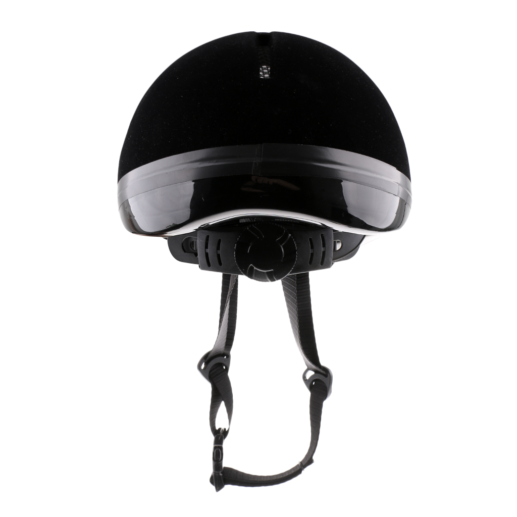 Kids Youth Comfy Velvet Texture Equestrian Helmet 48-54cm, Adjustable