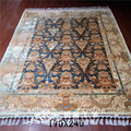 5.5'x8' Hand Weave Silk Carpet Strip Floral Design Area Carpet For Safe Rugs