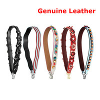 Colored Genuine Leather Shoulder Straps For Handbags Flower Rivet Leather Strap Handles Quality Replacement Bags Parts Strap