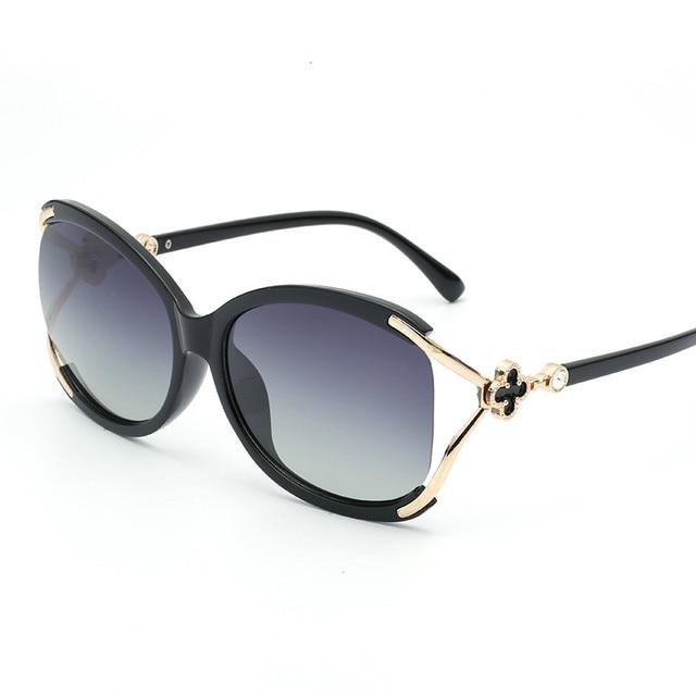 ladies Fashion Polarized Sunglasses Women Luxury Brand Designer Vintage Sun glasses Female Flower Oversized Shades Eyewear UV400
