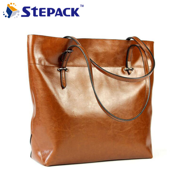 2017 Elegant Genuine Leather Women Bag Leisure Women's Tote Famous Brands Handbag Vintage Shoulder Bag WMB0087