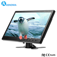 10.1 LCD HD Monitor Mini TV & Computer Display Color Screen 2 Channel Video Input Security Monitor With Speaker HDMI VGA USB TV