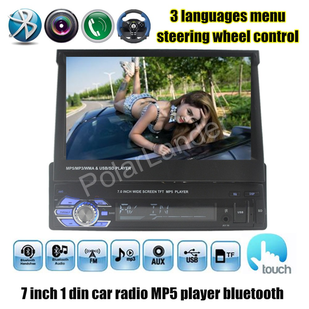 for rear camera Car Stereo Radio Audio MP5 Player Support Bluetooth USB TF Aux touch screen