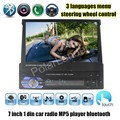 for rear camera Car Stereo Radio Audio MP5 Player Support Bluetooth/USB/TF/Aux/touch screen In Dash 1 DIN 7 inch