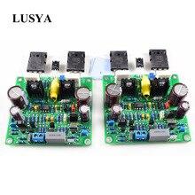 Lusya 2pcs accuphase e210 수정 된 전력 증폭기 보드 150 w 8ohm 완료 보드 dc 25 v 55 v F8 005