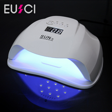 EUSCI SUN X 54W Nail Dryer UV LED Lamp For All Gels Polish With Infrared Sensing 30/60/90s Timer Smart touch button