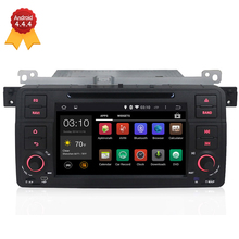 1 Din Android 4.4 1024*600 Car DVD GPS Navigation Autoradio For BMW E46 3 Series with 3G Wifi Can Bus support steering wheel