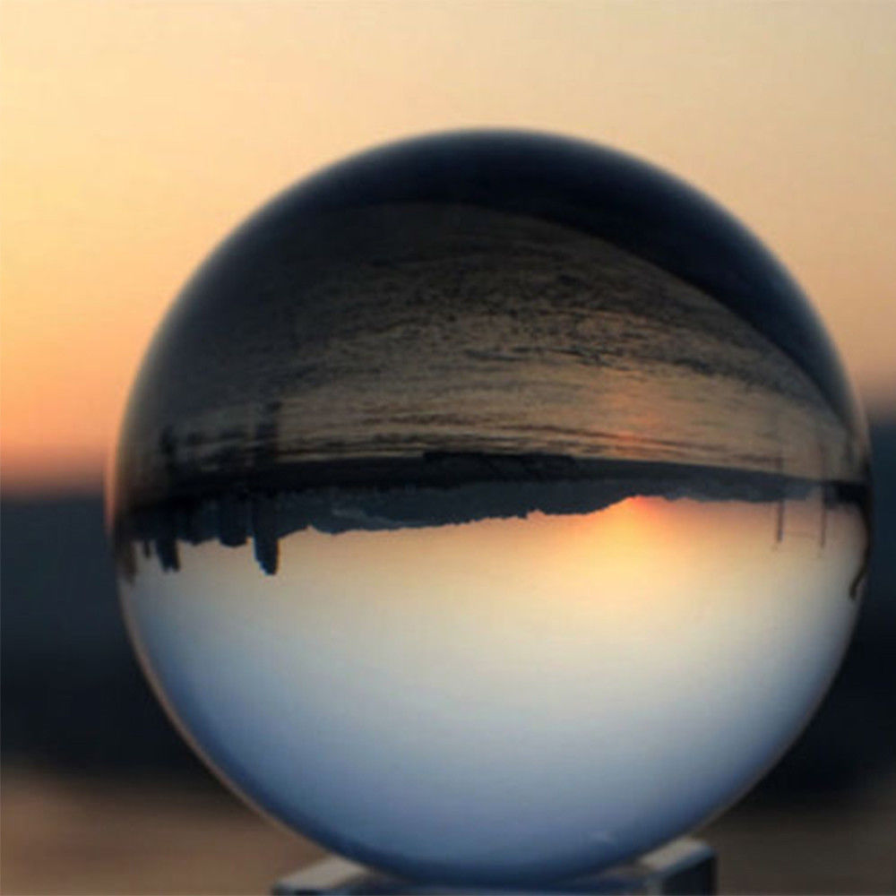 Clear Quartz Crystal Sphere Ball Decoration Photography Lens Photo Prop Lensball