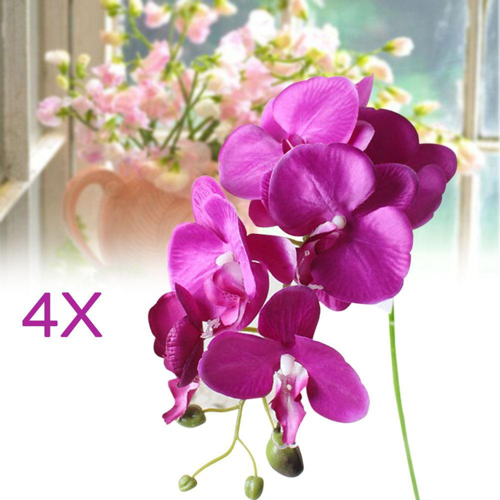 4x artificial butterfly orchid flower bouquet decor deep purple in 4x artificial butterfly orchid flower bouquet decor deep purple in hair accessories from womens clothing accessories on aliexpress alibaba group izmirmasajfo