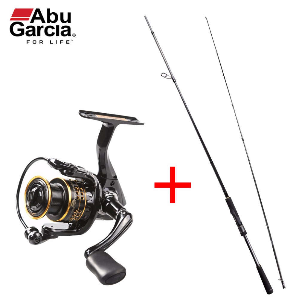 Original Abu Garcia Pro Max Combo PMAXS802M 2.44m Spinning Fishing Rod + PMAXSP40 Spinning Fishing <font><b>Reel</b></font> 4000 Spinning Combos